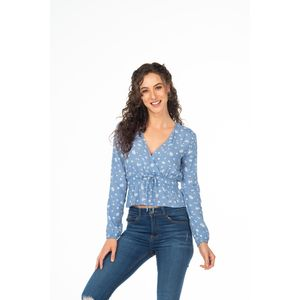 Blusa Baby Blue Flowers